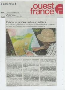 ouest-france 1er oct 2009 page nationale culture - amateurs