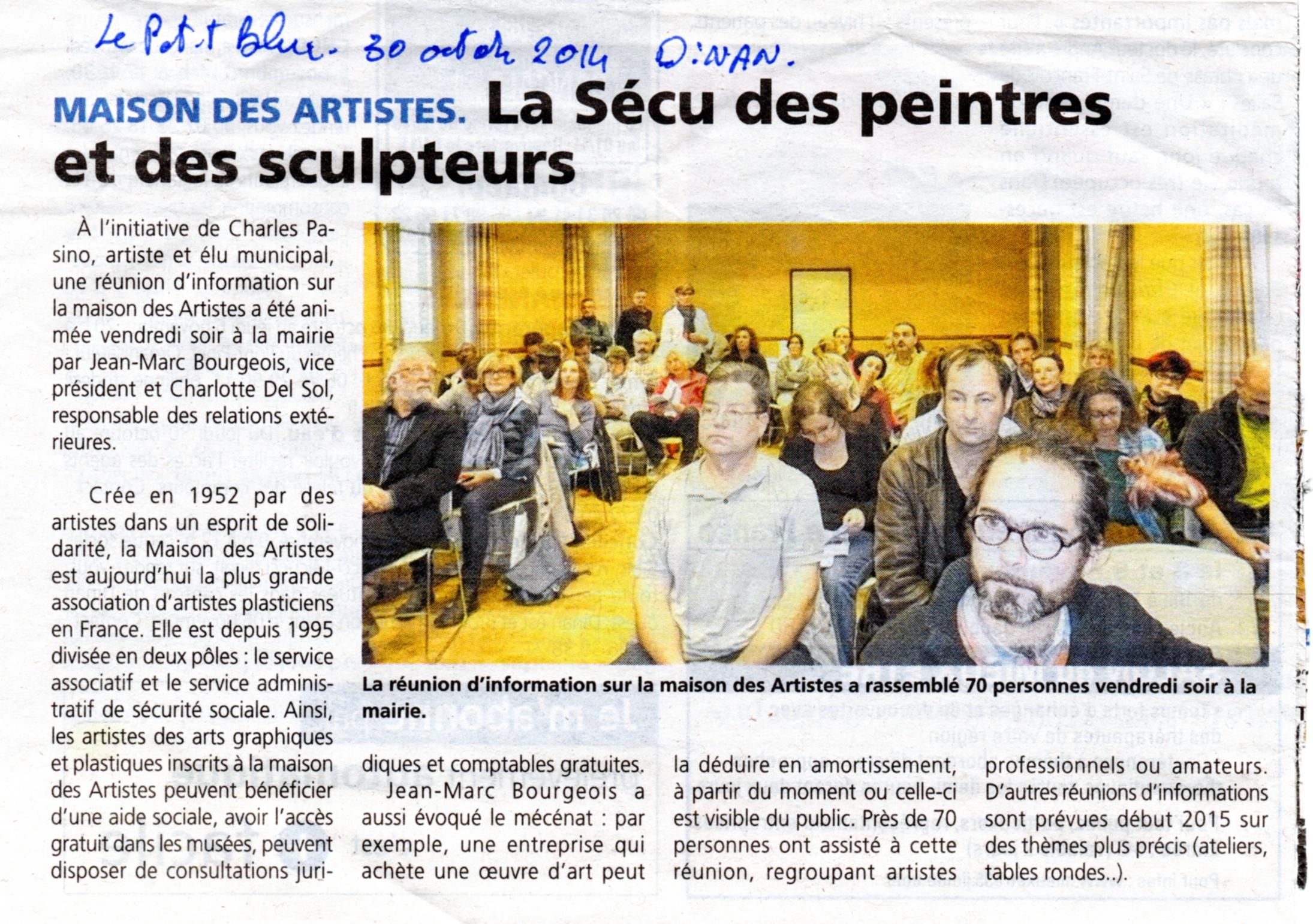 La mda dinan revue de presse la maison des artistes for Association maison des artistes