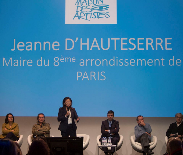 De gauche à droite : Laurence Maynier - Directrice FNAGP, Alain Lovato, Jean D'Hauteserre - Maire du 8ème arrondissement, Fabien Bouglé - Consultant Saint Eloy Wealth Consulting, François De Verdière et Rémy Aron.