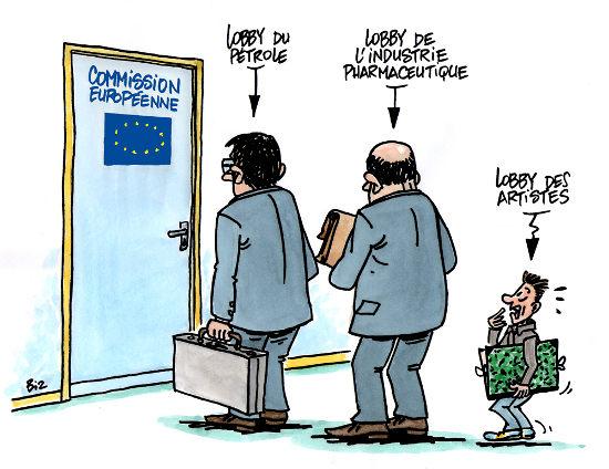 Les artistes en Europe
