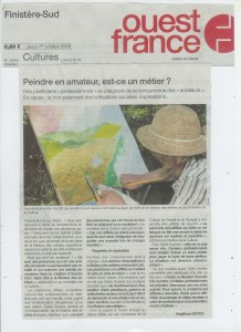 ouest-france 1er oct 2009 page nationale culture - amateurs